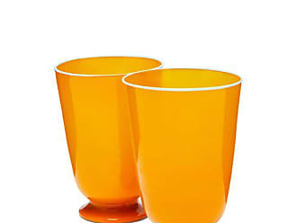 La DoubleJ La Doublej - Set Of Two Murano Glasses - Orange