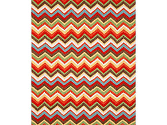 Liora Manne Ravella Zigzag Indoor / Outdoor Rugs Orange, Size: 2 x 8 ft. - RVLR8218244