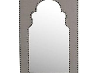 Privilege International Rectangle Linen Wall Mirror - 23.5W x 36H in
