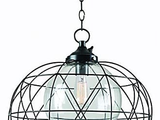 Kenroy Home Cavea 1 Light Outdoor Pendant, Black