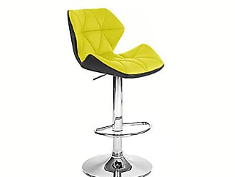 Vandue Spyder Contemporary Adjustable Barstool - Black/Yellow
