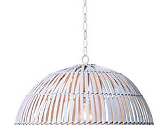 Kenroy Home Moon 1 Light Pendant, White