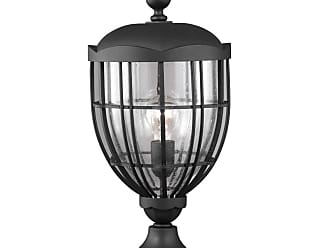 Feiss River North 1 Bulb Textured Black Outdoor Lantern Post Mount