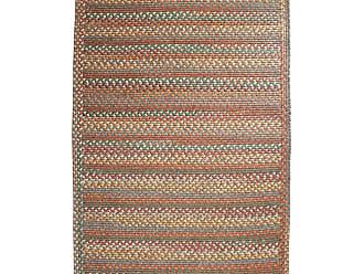Rhody Rug Blue Ridge Rectangle Wool Braided Rug, 23 x 8 Runner, in Moss Multi