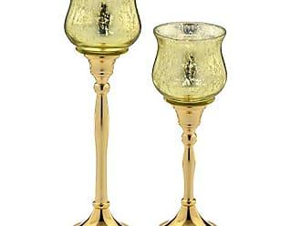 Espressione Conjunto 2 Castiçais Dourados Espressione Donzela Colection