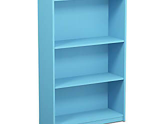 Furinno 14151R1LBL Jaya Simple Home 3-Tier Adjustable Bookcase, Light Blue