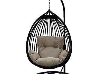 DARLEE Darlee Tear Drop Shaped Swing Chair with Cushion (Dark Chocolate)
