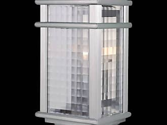 Feiss OL3403BRAL Mission Lodge Outdoor Lantern in Brushed Aluminum finish with Clear checked glass