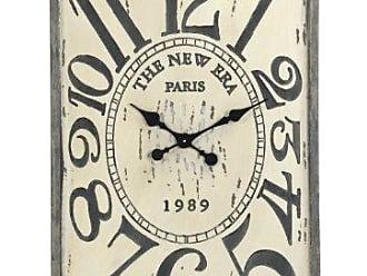 Zentique Zentique Wooden Clock, White