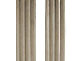Monarch Specialties I 9821 Curtain Panel Room Darkening, Velvet 95 H Beige