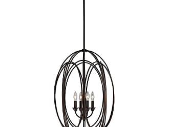 Vaxcel Lighting P0016 Solstice 4 Light Pendant Burnished Bronze Indoor
