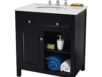 222 Fifth Wadsworth Rectangular Single Sink Bathroom Vanity - 7042BK900A1J11