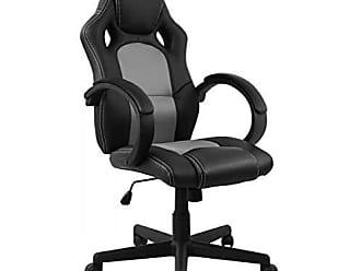 Pelegrin Cadeira Presidente Gamer em Couro Pu Preta com Cinza Pelegrin Pel-3002