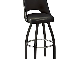 Regal 26-Inch Fillmore Bucket Seat Swivel Counter Stool Black - 85-1115-26-ANODIZED NICKEL-BLACK