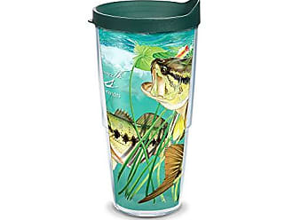 Trevis Tervis GH-IB-24-LBAS-WRA Guy Harvey Largemouth Bass Wrap Boxed Tumbler with Green Lid, 24-Ounce