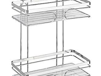 Plata Brillante Acero Inoxidable 19x26.5x27.5 cm Wenko Premium Rinconera Doble