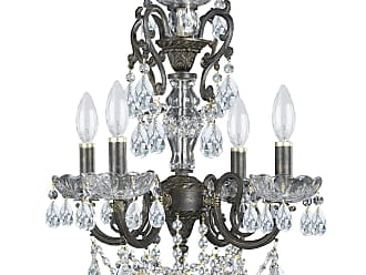 Crystorama 5194-EB-CL-MWP Ornate Chandelier Accented with Hand cut Crystal