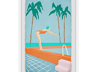 Marmont Hill Ready to Take a Dip Framed Print Wall Art, Womens - MH-JULWHF-99-WFPFL-18