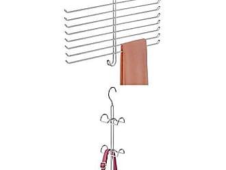 4er-Set Tuchhalter H/ängeorganizer f/ür Schals G/ürtel etc silberfarben T/ücher Krawatten InterDesign Axis Schalhalter mit 18 Ringen aus Metall