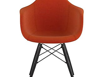NyeKoncept 332004EW3 Mid Century Dowel Arm Chair, Lava Red