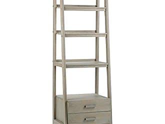 Simpli Home Simpli Home 3AXCSAW-06-GR Sawhorse Solid Wood 72 inch x 24 inch Modern Industrial Ladder Shelf with Storage in Distressed Grey