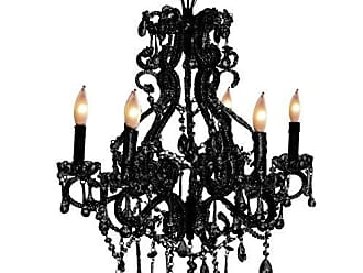 Pangea Home Pangea Home CH 6 Black Isabella Chandelier 6