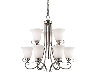 Thomas Lighting 1009CH Brighton 9 Light 25 Wide Chandelier with White