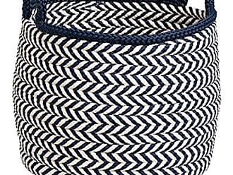 Colonial Mills Preve Basket, 18x18x17, White & Navy