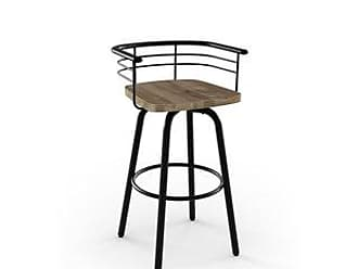 Carbon Loft Cantrell Swivel Metal Counter Stool with Distressed Wood Seat (Light Grey Wood/Gun Metal Finish)