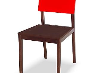 Nem Tudo é Igual Cadeira Felipe Marrom Escuro e VermelhoMarrom Escuro e Vermelho