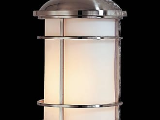Feiss OL2203BS Lighthouse Wall Mount Lantern in Brushed Steel finish with Opal etched glass