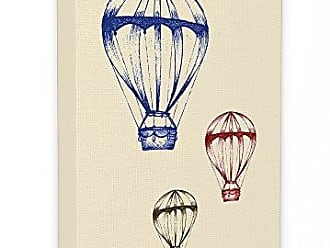 Stupell Industries Stupell Home Décor Graphic Hot Air Balloon Blue Red Green Oversized Stretched Canvas Wall Art, 24 x 1.5 x 30, Proudly Made in USA
