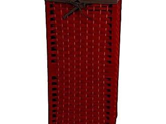 Oriental Furniture 28 Natural Fiber Laundry Hamper - Mahogany