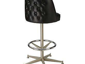 Regal Bucket Seat Button Tufted Cone Metal Stool - P2TFT-1130
