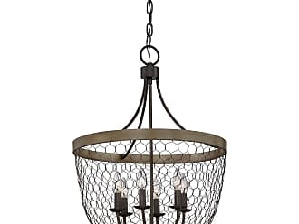 Quoizel Willowstone 20.5 6-Light Chandelier in Classic Gray