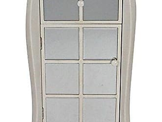 Heather Ann Creations The Lana Collection Modern Style 1 Drawer 1 Door Entry Way Living Room Accent Cabinet, White Antique