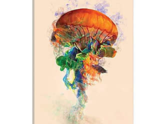 iCanvas ART iCanvas Jellyfish Ink Gallery Wrapped Canvas Art Print by Dániel Taylor, 18 x 12