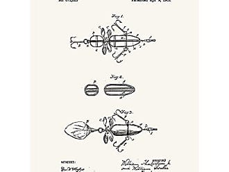 Inked and Screened SP_OUTG_671,613_TW_24_K Mechanical Fishing Bait-W. Shakespeare Jr. -1901 Print, 18 x 24, True White-Black Ink