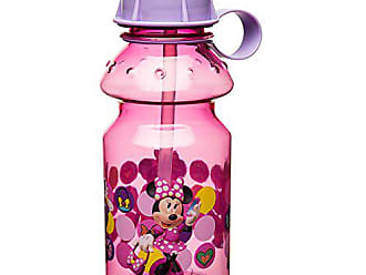 Zak designs Minnie 14oz Kids Water Bottle with Straw - BPA Free with Easy Clean Design, Minnie Bowtique
