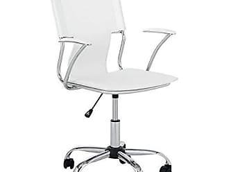 Pelegrin Cadeira Diretor Executiva em Couro Pvc Branca Pelegrin Pel-6011