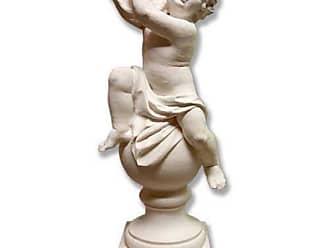 Orlandi Statuary Cherub with Tambourine Garden Statue - FDS165CHERTAMBOUR