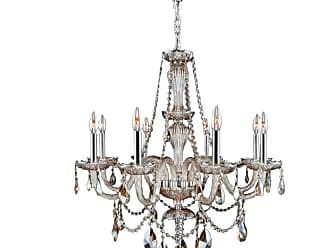 Worldwide Lighting W8309728 Provence 8 Light 28 Wide Crystal