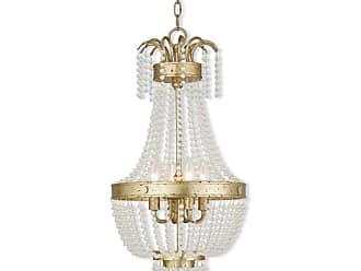 Livex Lighting 51854 Valentina 4 Light Foyer Pendant Brushed Nickel