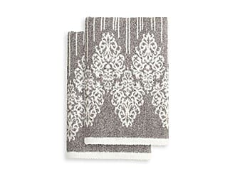 Linum Home Textiles Gioia Hand Towels (Set of 2), Vintage Brown