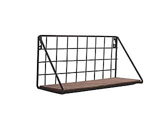 Foreside Home And Garden Metal Grid Wall Shelf Small