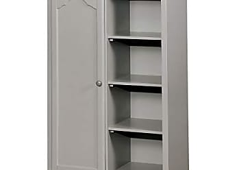 Benzara BM182927 Transitional Style Solid Wood Closet Storage Gray