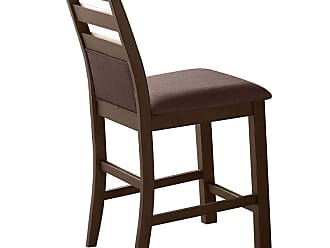 Winners Only 26 in. Upholstered Ladder Back Counter Stool - Set of 2 - WIN820-1