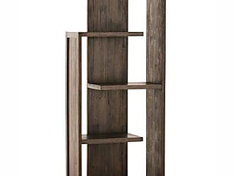 Simpli Home Simpli Home AXCMON-05 Monroe Solid Acacia Wood 72 inch x 30 inch Rustic Bookcase in Distressed Charcoal Brown