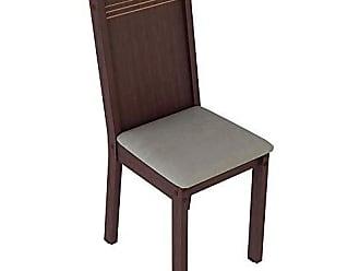 Madesa Kit 6 Cadeiras 4290 Madesa Tabaco/pérola