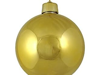 Queens of Christmas WL-ORN-BLKS-100-GO-UV WL-ORN-BLKS-100-GO-UV - 100mm Shiny gold ball ornament w/wire and UV Coating
